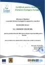 Certificat vopsea lavabilă Duraziv Fără Miros Ecolabel